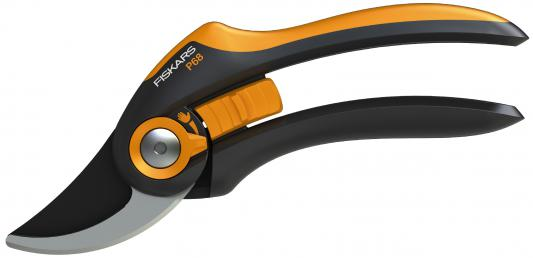 Секатор плоскостной Fiskars SmartFit P68 черный/оранжевый 111610