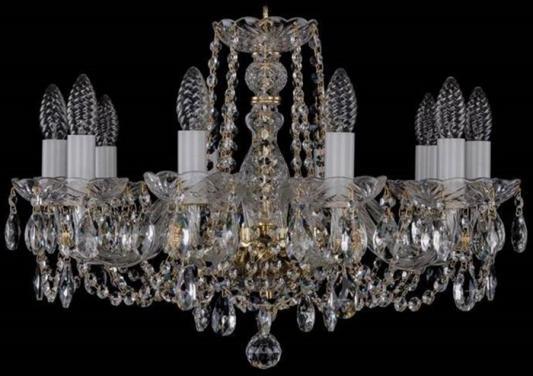 Подвесная люстра Bohemia Ivele 1402/10/195/G bohemia ivele crystal подвесная люстра bohemia ivele 1402 8 195 g balls tube