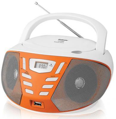 Магнитола BBK BX193U белый оранжевый
