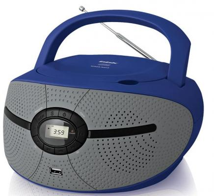 Магнитола BBK BX195U голубой серый  BX195U