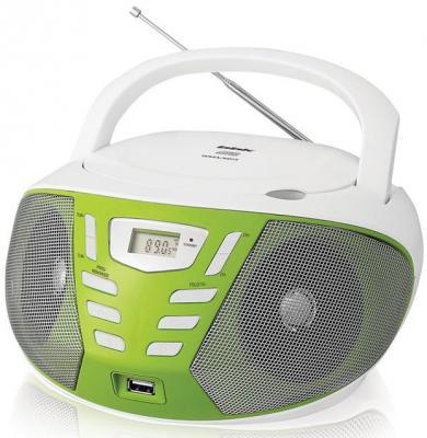 Магнитола BBK BX193U белый зеленый