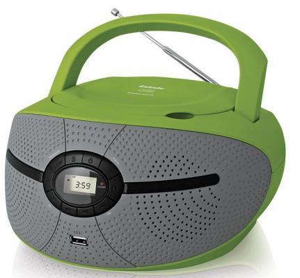 Магнитола BBK BX195U зеленый серый