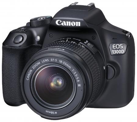 Зеркальная фотокамера Canon EOS 1300D KIT черный 1160C005