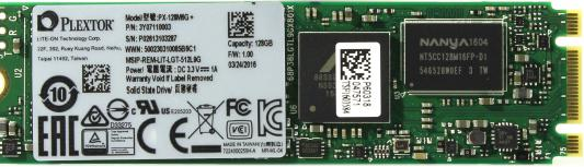 SSD Твердотельный накопитель M.2 128Gb Plextor M6G Plus Read 520Mb/s Write 360Mb/s SATAIII PX-128M6G+