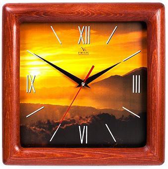 Часы Вега Д 4 КД/6 76 коричневый кронштейн kromax vega 50 белый