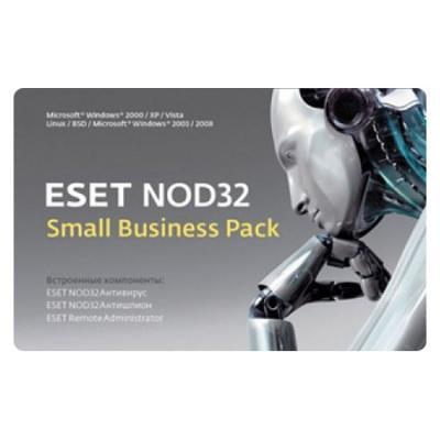 Базовая лицензия ESET NOD32 Small Business Pack на 12 мес на 10 устройств NOD32-SBP-NS(CARD)-1-10 eset nod32 small business pack