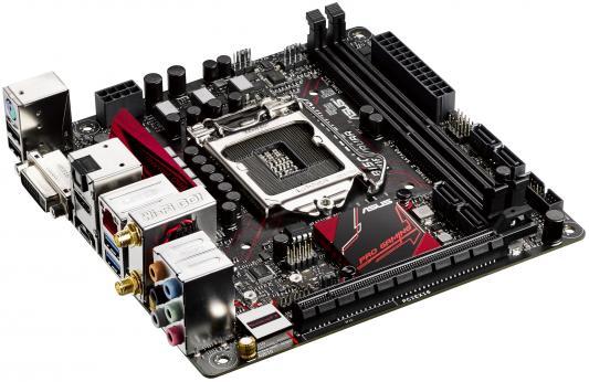 Мат. плата для ПК ASUS B150I PRO GAMING/WIFI/AURA Socket 1151 B150 2xDDR4 1xPCI-E 16x 4xSATAIII mini-ITX 90MB0PL0-M0EAY0