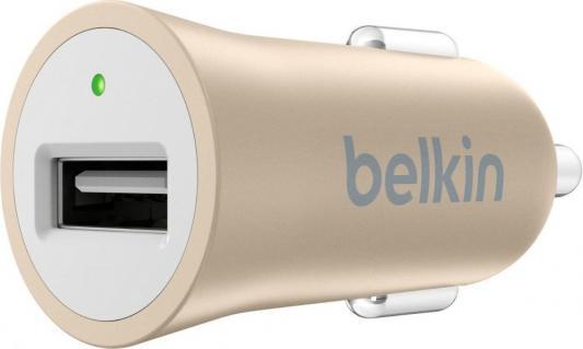 Автомобильное зарядное устройство Belkin F8M730btGLD USB 2.4А золотой автомобильное зарядное устройство belkin universal car charger f8m730bt серый