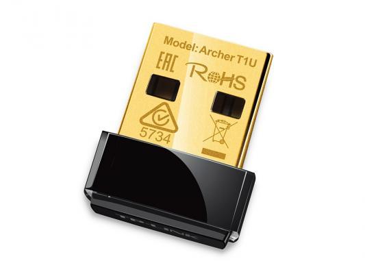 Беспроводной USB адаптер TP-LINK Archer T1U AC450 802.11a/b/g/n/ac 433Mbps 5ГГц 20dBm б/у беспроводной маршрутизатор tp link archer c3200 802 11n ac 600 1300 1300мбит с 2 4ггц и 5ггц 4xgblan 1xgbwan 1xusb2 0 1xusb3 0