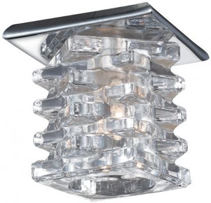Встраиваемый светильник Novotech Crystal 369375 встраиваемый точечный светильник коллекция crystal 369375 хром хрусталь novotech новотех