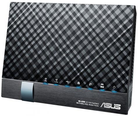 все цены на Беспроводной маршрутизатор ADSL ASUS DSL-AC56U 802.11aс 1167Mbps 5 ГГц 2.4 ГГц 4xLAN USB черный онлайн