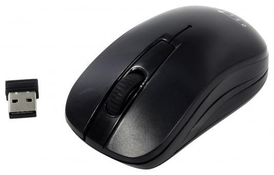 Мышь беспроводная Oklick 445MW чёрный USB + радиоканал мышь беспроводная oklick 655mw чёрный красный usb