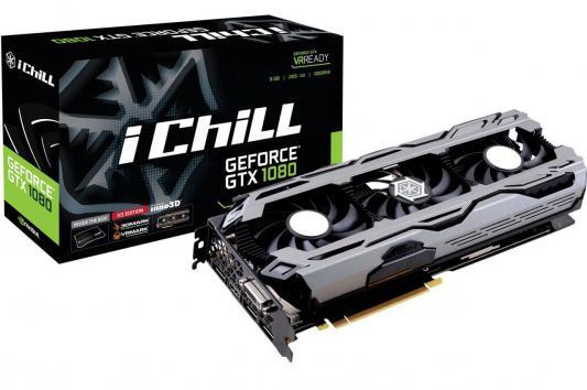 Видеокарта 8192Mb  Inno3D GeForce GTX 1080 iChill X3  PCI-E 256bit GDDR5X DVI HDMI DP HDCP C108V3-2SDN-P6DNX Retail