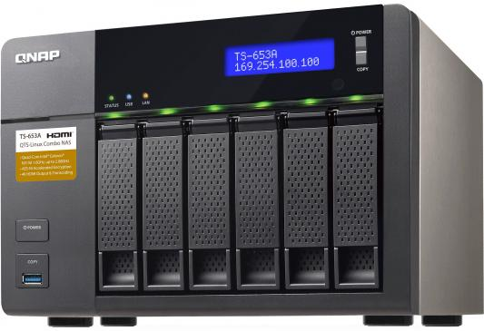 Сетевое хранилище QNAP TS-653A-4G CPU 1.6GHz