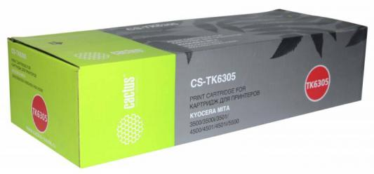 Картридж Cactus CS-TK6305 для Kyocera Mita TASKalfa 3500/3501/4500/4501/5500/5501/3500i/3501i/4500i/4501i/5500i/5501i черный 35000стр new original kyocera 302k994980 motor pm regist for ta4500i 5500i 4501i 5501i 6501i 8001i