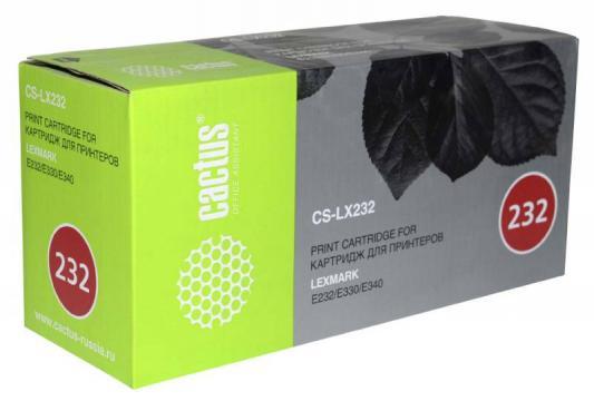 Картридж Cactus CS-LX232 24016SE для Lexmark Optra E230/E232T/E240N/E332N/E342/E232/E234/E330/E332TN/E342N/E232N/E240/E332/E340/E342TN черный 2500стр chip for lexmark optra 658dte for lexmark 40x4724 for lexmark optra 652 dn laser black smart chip free shipping