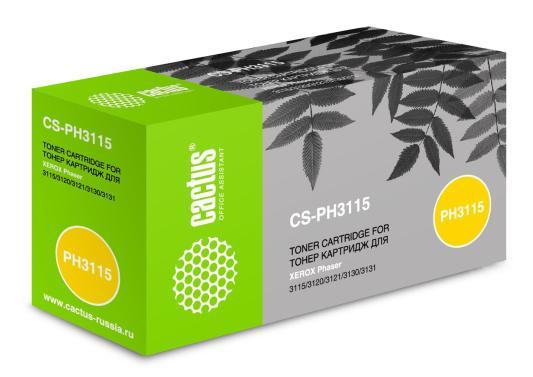 Картридж Cactus CS-PH3115 109R00725 для Xerox Ph3115/3120/3121/3130/3131/3132 черный 3000стр картридж xerox 109r00725 для phaser 3120 3130 чёрный 3000 страниц