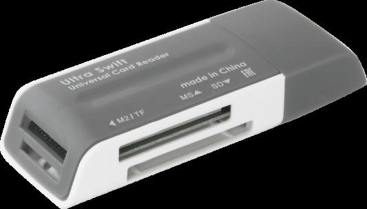 Фото - Картридер внешний Defender Ultra Swift USB 2.0 4 слота картридер внешний defender ultra sdhc sd xd ms ms pro ms duo ms pro duo cfi cfii синий черный 83500