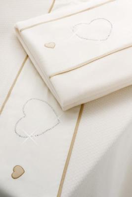 Комплект постельного белья 3 предмета Erbesi Cuori (слоновая кость)