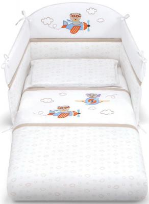Комплект постельного белья 3 предмета Pali Aviatore (белый)