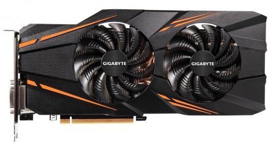 Видеокарта 8192Mb Gigabyte GeForce GTX1070 PCI-E 256bit GDDR5 DVI HDMI DP GV-N1070WF2OC-8GD Retail видеокарта gigabyte pci e gv n710sl 1gl nvidia