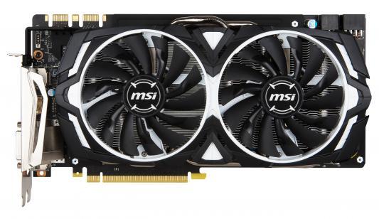 Видеокарта 8192Mb MSI GeForce GTX 1080 ARMOR 8G OC PCI-E 256bit GDDR5X DVI HDMI DP Retail видеокарта msi nvidia geforce gtx 1080ti geforce gtx 1080 ti armor 11g oc 11гб gddr5x oc ret