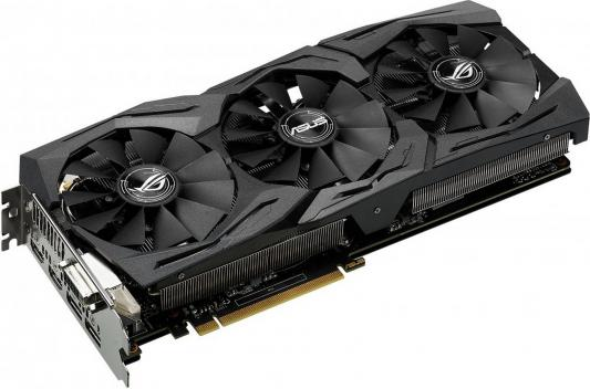 Видеокарта 8192Mb ASUS GeForce GTX1080 PCI-E 256bit GDDR5X DVI HDMI DP STRIX-GTX1080-O8G-GAMING Retail