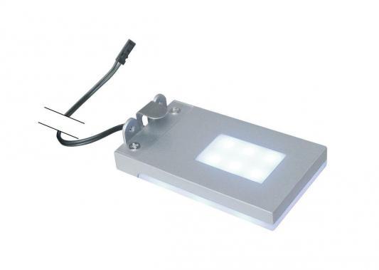 Подсветка полок без источника питания (07744) Uniel ULE-C01-1,5W/NW IP20 Silver