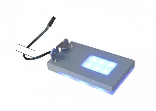 Подсветка полок без источника питания (07745) Uniel ULE-C01-1,5W/Blue IP20 Silver
