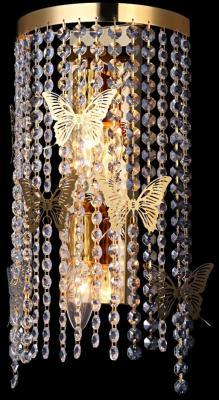 Настенный светильник Crystal Lux Bloom AP2 Gold настенный светильник bloom sp5 gold crystal lux 1154144