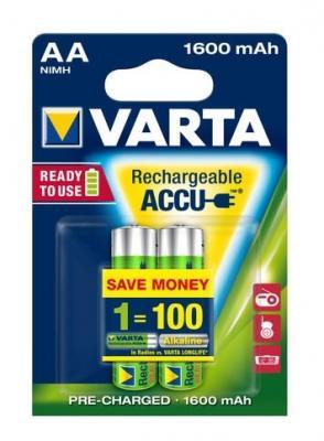 Аккумуляторы Varta R2U 1600 mAh AA 2 шт