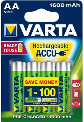 Аккумуляторы Varta R2U 1600 mAh AA 4 шт