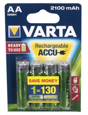 Аккумуляторы Varta R2U 2100 mAh AA 4 шт аккумуляторы varta r2u aaa