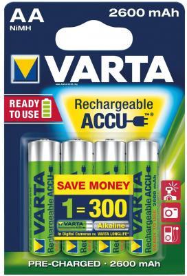 Аккумуляторы Varta R2U/MR6 2600 mAh AA 4 шт аккумуляторы 1600 mah varta r2u aa 4 шт