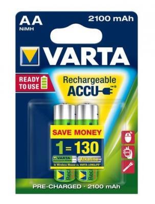 Аккумуляторы Varta R2U 2100 mAh AA 2 шт