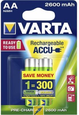 Аккумуляторы Varta R2U 2600 mAh AA 2 шт аккумуляторы 2600 mah varta r2u aa 4 шт