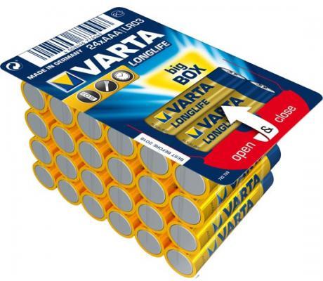 Батарейки Varta Longlife AAA 24 шт элемент питания varta longlife aaa 2 шт