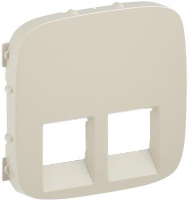 Лицевая панель Legrand Valena Allure для двойных телефонных/информационных розеток слоновая кость 755426