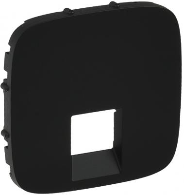 Лицевая панель Legrand Valena Allure для одиночных телефонных/информационных розеток антрацит 755418  цены