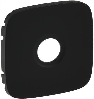 Лицевая панель Legrand Valena Allure для розеток ТВ антрацит 754768 лицевая панель legrand valena allure для выключателя двухклавишного с подсветкой антрацит 755228