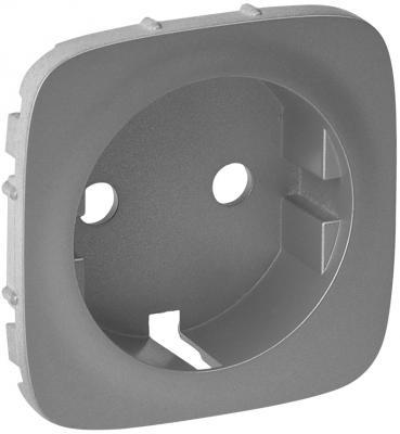 Лицевая панель Legrand Valena Allure для розетки 2К+З алюминий 755207