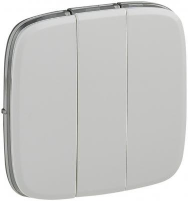 Лицевая панель Legrand Valena Allure для выключателя 3-клавишного белый 755035
