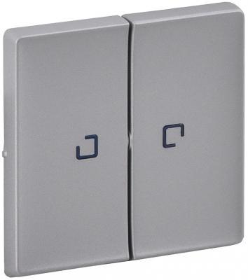 Лицевая панель Legrand Valena Life для выключателя 2-клавишного с подсветкой алюминий 755222