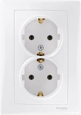 Розетка Schneider Electric двойная белый SDN3000621