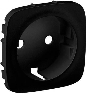 Лицевая панель Legrand Valena Allure для розетки 2К+З антрацит 755208 розетки и выключатели legrand valena купить дешево