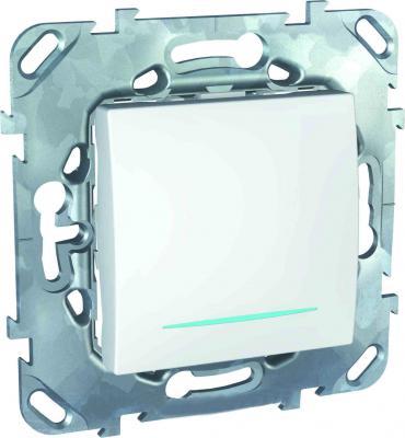 Выключатель Schneider Electric 1-клавишный белый MGU5.206.18NZD  выключатель schneider electric 1 клавишный алюминий mgu5 206 30zd