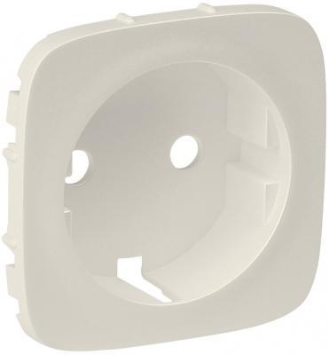 Лицевая панель Legrand Valena Allure для розетки 2К+З слоновая кость 755206  лицевая панель legrand valena allure для розетки 2к з антрацит 755208