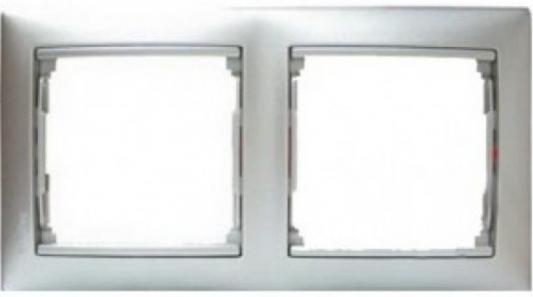Рамка Legrand Valena 2 поста алюминий матовый 770332 bticino bt ll графит рамка овальная 2 2 2 мод lnb4802m3gf
