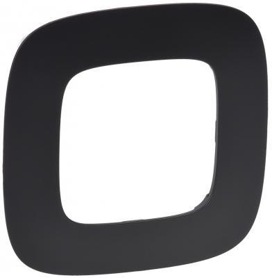 Рамка Legrand Valena Allure 1 пост матовый черный 754401