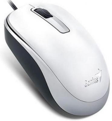 Мышь проводная Genius DX-125 белый USB